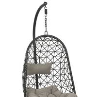 Hanging egg chairs for garden