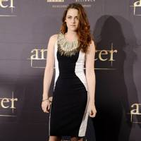 Kristen Stewart at a photocall in Madrid