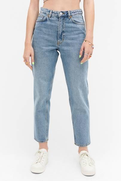 Best High-Waisted Blue Jeans: Monki