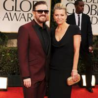 Ricky Gervais and Jane Fallon at Golden Globes 2012