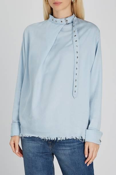 Best Denim Shirts - Buckled Collar