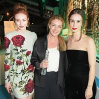 Eleanor Tomlinson, Anya Hindmarch and Heida Reed