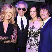 Keith Richards, Patti Hansen, Ronnie and Sally Wood
