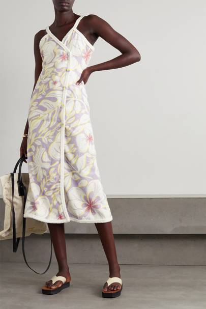 Summer 2021 Towelling Trend - Floral Dress
