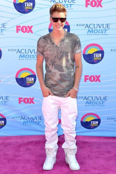 Justin Bieber at the Teen Choice Awards 2012