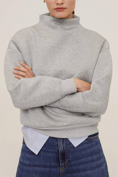 The funnel-neck sweat