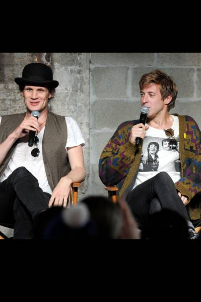 Matt Smith and Arthur Darvill at Comic-Con 2012