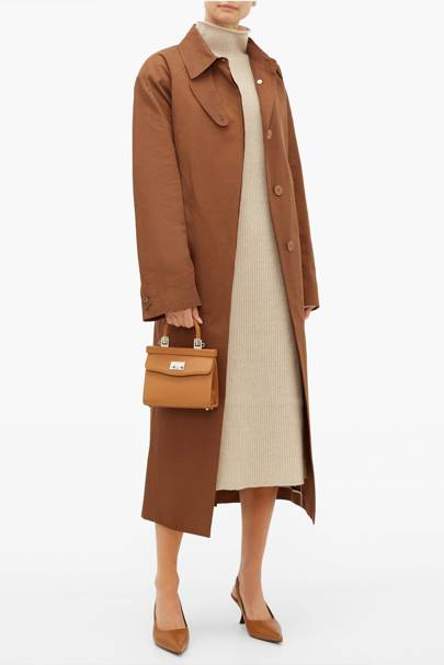 Best brown trench coat on sale