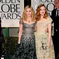 Madonna and Andrea Riseborough at Golden Globes 2012