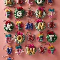 Best Christmas decorations: the monogram baubles