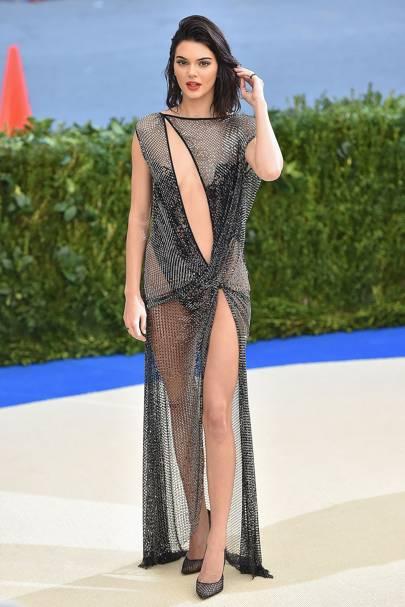 Kendall Jenner wearing a La Perla gown