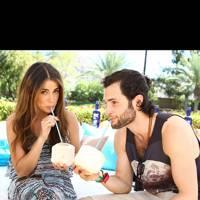Nikki Reed and Penn Badgley at Coachella