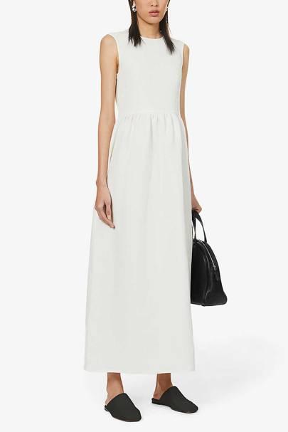 Best White Bridesmaid Dresses - Linen Mix