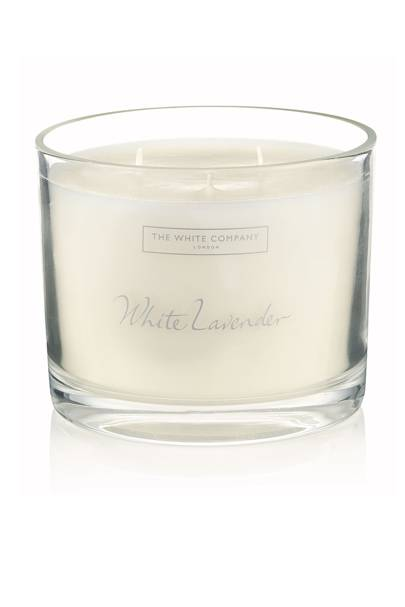 White Lavender Large Scented Candle, £55, The White Company