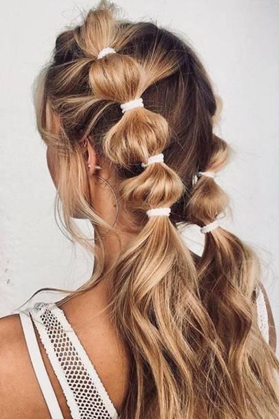 The pigtail bubble braids