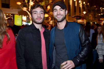 Chuck Bass & Nate: Gossip Girl reunion with Ed Westwick & Chace ...