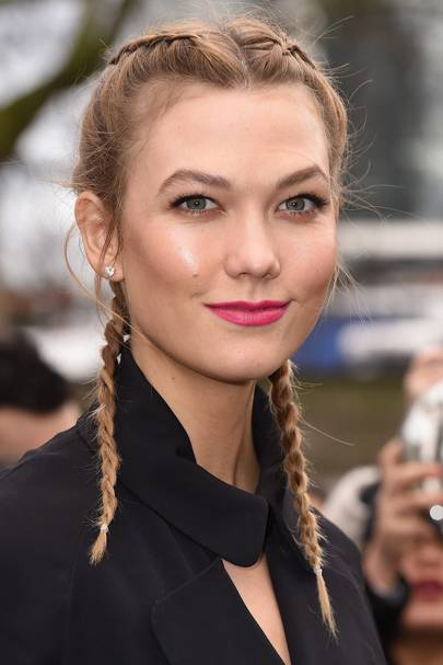 Karlie Kloss' pigtail plaits