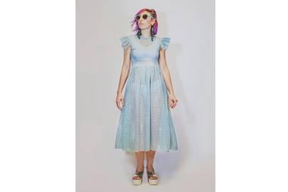 Ruffled shoulder detail dress by Ennemenouno