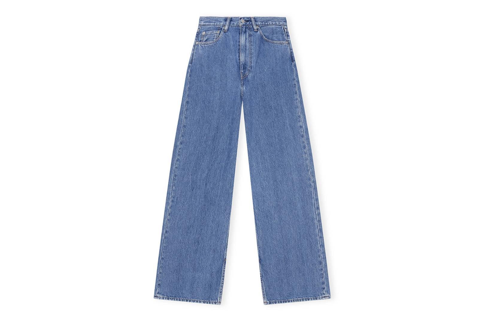 Ganni X Levi's Medium Indigo Denim Jeans, £255,