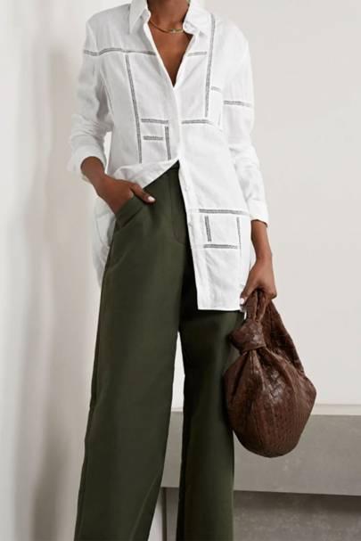Best Women's White Shirts - Gabriela Hearst