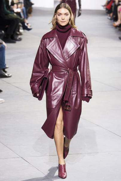 This Michael Kors Collection Leather Trench
