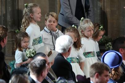 Prince George and Savannah Phillips larking around at Princess Eugenie's wedding is the best thing we've seen today