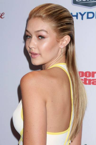 Celebrities With Wet Look Hair Slicked Back Styles Glamour Uk