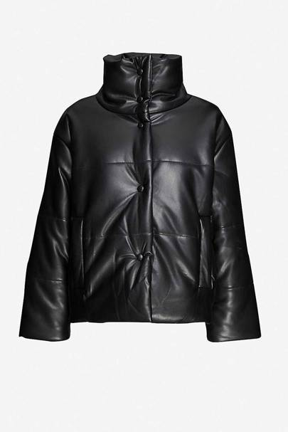 Leather coats: the puffer