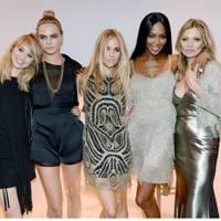 Suki Waterhouse, Cara Delevingne, Sienna Miller, Naomi Campbell & Kate Moss