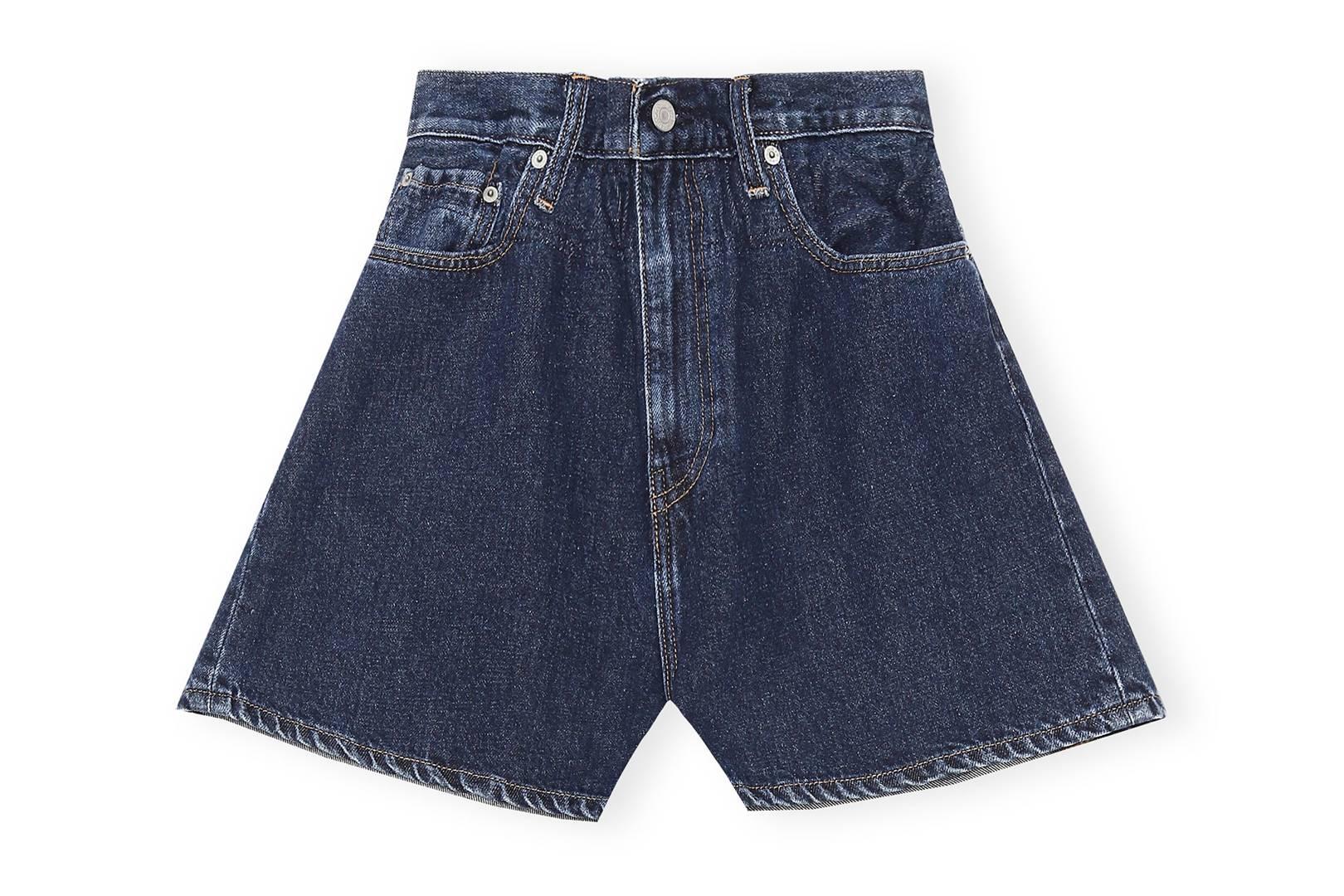 Ganni X Levi's Dark Indigo Denim Shorts, £205