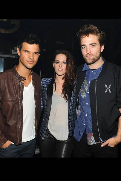Taylor Lautner, Kristen Stewart, Robert Pattinson at the Teen Choice Awards 2012