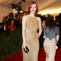 Karen Elson at the Met Gala