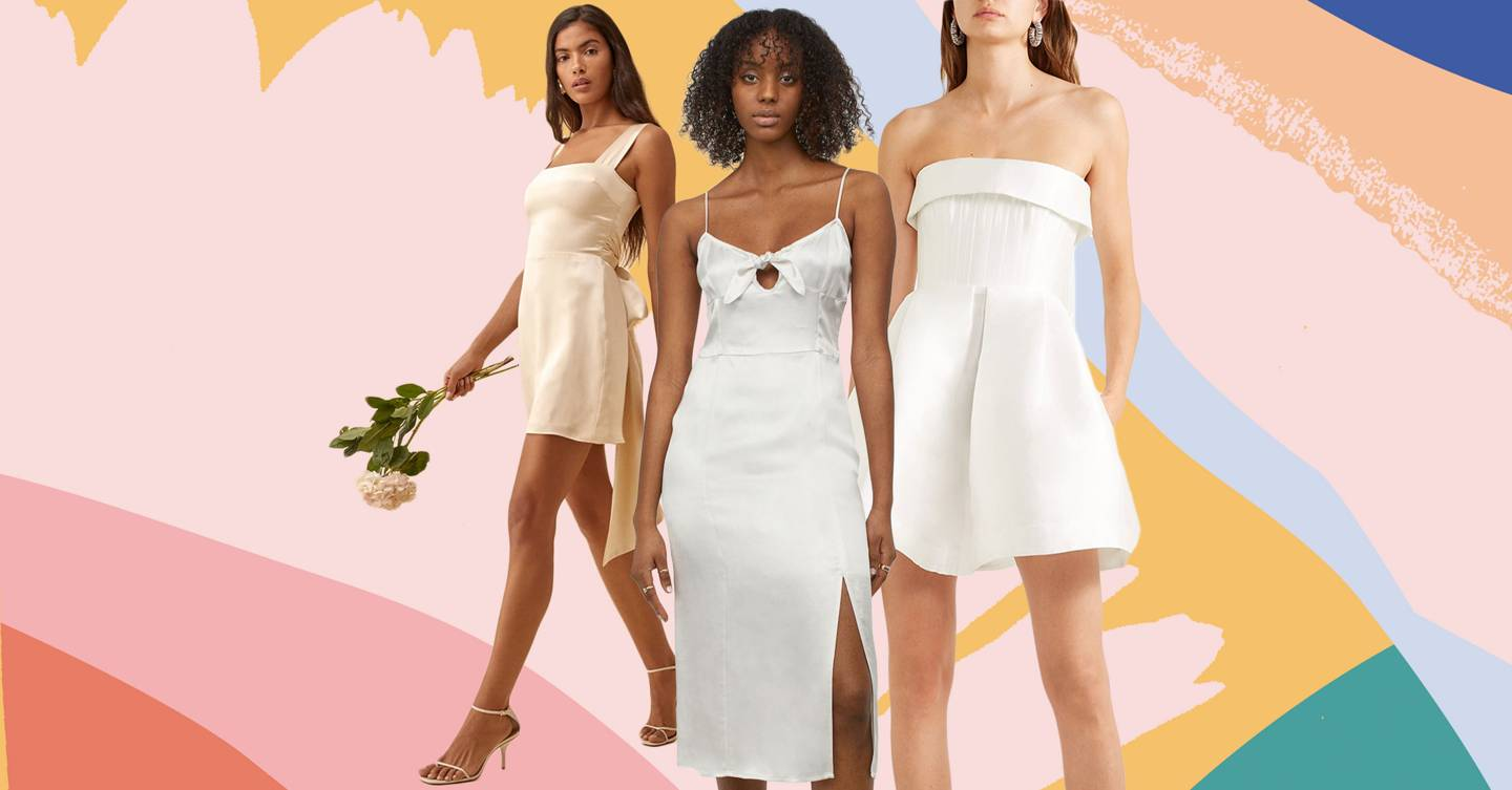 Short wedding dresses are trending so here are 21 of the best picks for your summer wedding