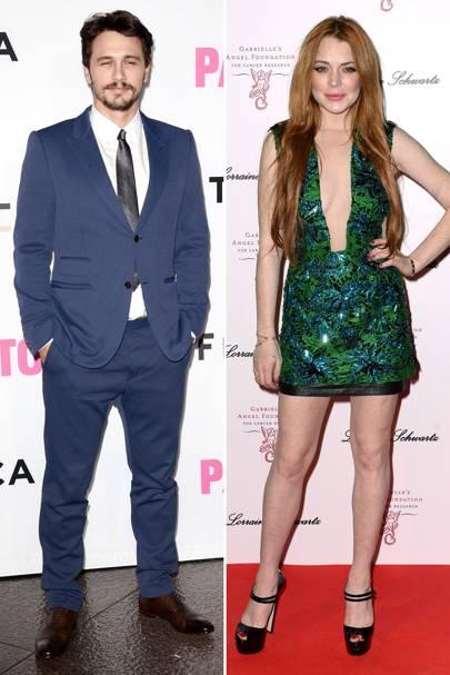 James Franco and Lindsay Lohan