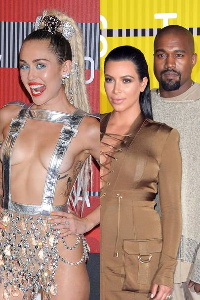 Miley Cyrus & the Kardashian-Wests