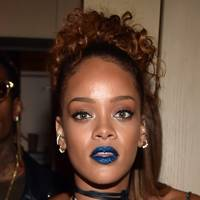 Rihanna's blue lips
