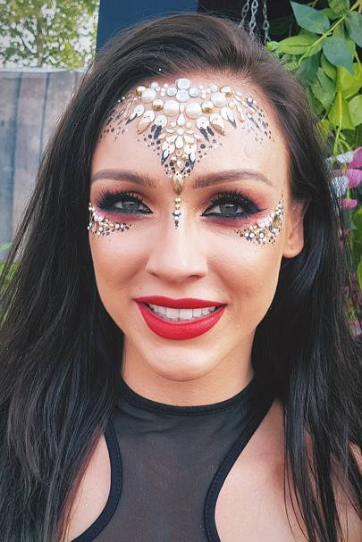 Festival makeup doesn't end at glitter and jewels. Get creative and build your look with some face paint. (Tahitian Gold Jewelled Headpiece, In Your Dreams, ...