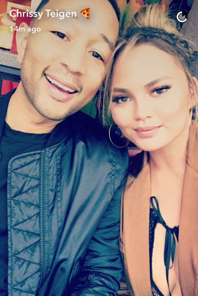 Chrissy Teigen Nip Slip At The Super Bowl Chrissy Teigen -9375
