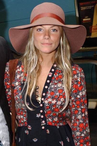 Sienna goes for the all-out hippy vibe at a film screening in this  Pallenberg-inspired floppy hat a15b6e44f