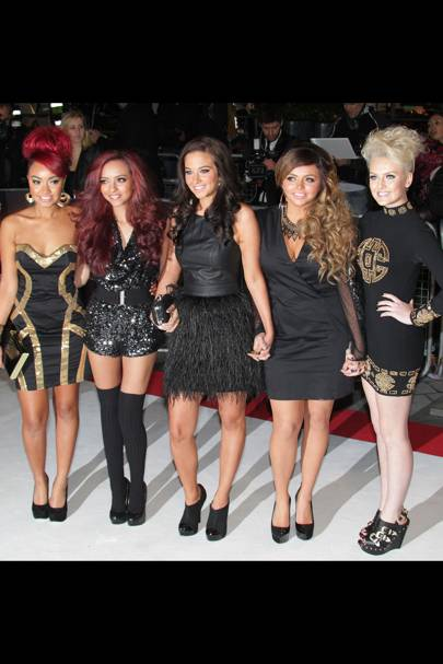 Little Mix and Tulisa at the UK premiere of Breaking Dawn