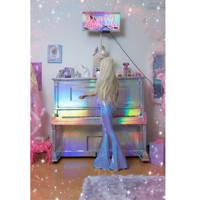 Lilac Iridescent Bell Bottoms by Sparkl Fairy Couture