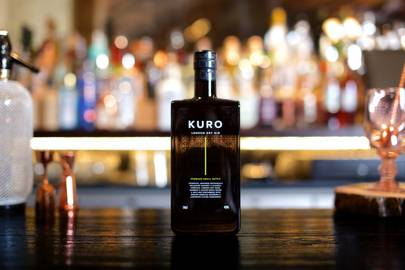 Charcoal distilled KURO Gin