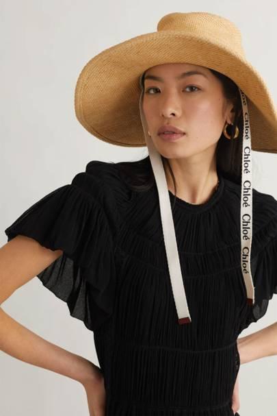 Best Sun Hats: Logo Raffia Hat