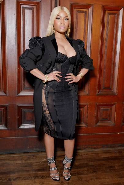 Gothic Trend Celebrities Wearing Black And Lace Outfits Glamour Uk