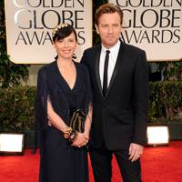 Ewan McGregor and Eve Mavrakis at Golden Globes 2012