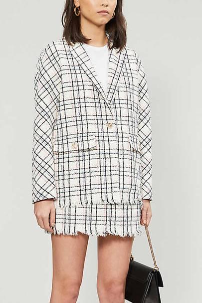 The cotton-blend blazer