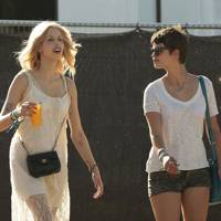 Peaches and Pixie Geldof at Glastonbury
