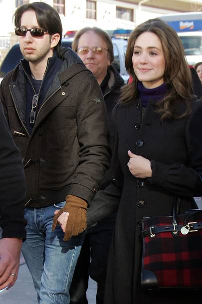 Emmy Rossum and Justin Siegel