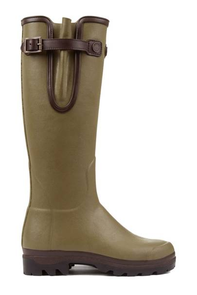LE CHAMEAU: Olive Knee-High Boots