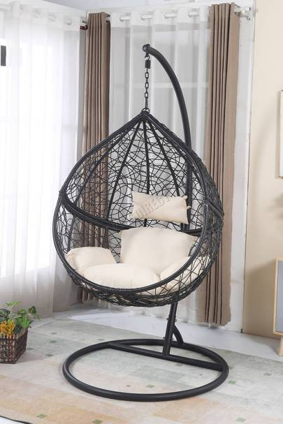 Hanging egg chairs indoor and outdoor